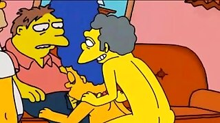 Marge Simpson cheating mom