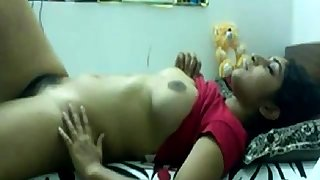 Desi teen playing with..