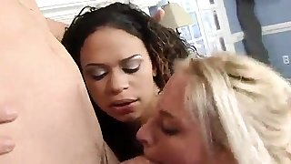 hot threesome with young..