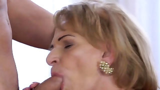 Lusty grandma admiring firm..
