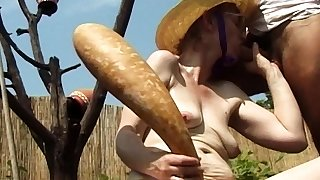 sadism old mom outdoor fucked