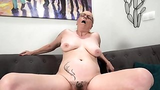 Granny with fat knockers..