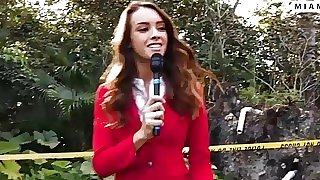 Hot news reporter sucks..
