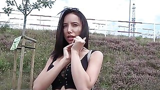 Public agent pays busty babe..