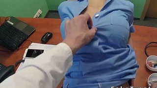 Doctor finally nails busty..