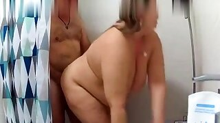 Thick juicy BBW in the shower
